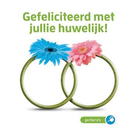 Gefeliciteerd met jullie huwelijk - gerbera zaadjes - Seeds & Greets